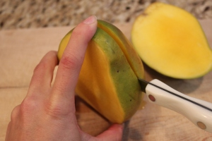 Cutting a Mango