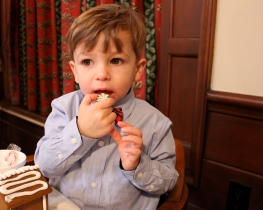 Gingerbread House Eating