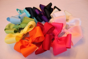 Hair Bow Rainbow
