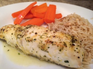 Halibut with Garlic Lemon Butter Sauce | Running with Skissors