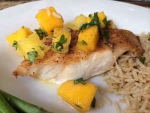 Cajun Grouper with Fruit Salsa